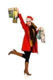 圣诞节购物 免版税库存图片
