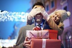 圣诞节购物 免版税库存照片