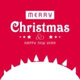 圣诞节贺卡有桃红色背景和白色christma 库存例证