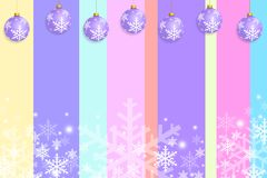 圣诞节贺卡模板设计柔和的淡色彩 库存图片