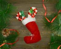 圣诞节起动用糖果棍子 免版税库存图片