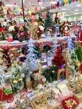 圣诞节超级市场 免版税库存照片