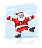 圣诞节跳舞快活的圣诞老人的克劳斯 免版税库存图片
