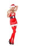 圣诞节辅助工圣诞老人 免版税库存照片