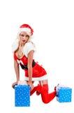 圣诞节辅助工圣诞老人 图库摄影