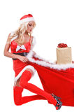 圣诞节辅助工圣诞老人 库存图片