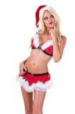 圣诞节辅助工圣诞老人 免版税库存图片