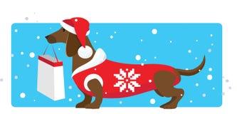 圣诞节辅助工购物 免版税图库摄影