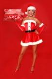 圣诞节辅助工s圣诞老人 免版税图库摄影