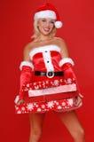 圣诞节辅助工s圣诞老人 免版税库存照片