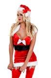 圣诞节辅助工s性感的圣诞老人 免版税图库摄影