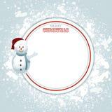圣诞节边界拷贝空间和雪人 免版税库存图片