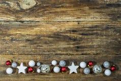 圣诞节边界装饰 免版税库存照片