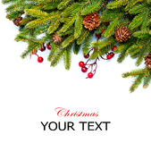 圣诞节边界设计 免版税库存照片