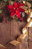 圣诞节边界设计 免版税库存图片