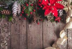 圣诞节边界设计 库存照片