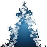 圣诞节边界,雪花设计背景 向量例证