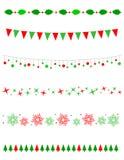 圣诞节边界/分切器 库存图片