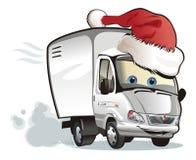 圣诞节送货卡车向量 免版税图库摄影