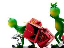 圣诞节送货员礼品 库存照片