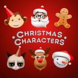 圣诞节逗人喜爱的字符 皇族释放例证
