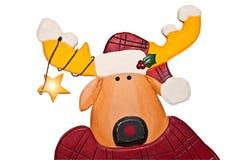 圣诞节逗人喜爱的驯鹿 图库摄影
