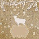 圣诞节邀请卡片模板 EPS 8 免版税库存照片