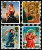圣诞节邮票 免版税库存照片