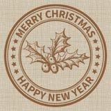 圣诞节邮票 免版税库存图片