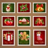 圣诞节邮费 免版税库存图片