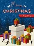 圣诞节配合概念卡片设计 库存照片