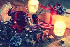 圣诞节酒桔子桂香 库存照片