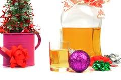 圣诞节酒精 免版税图库摄影