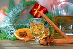 圣诞节酒精 库存照片