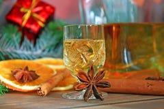 圣诞节酒精 免版税库存照片