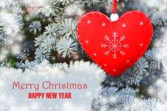 圣诞节重点红色结构树 免版税库存照片