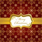 圣诞节金子红色包裹 免版税库存图片