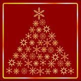 圣诞节金结构树 库存照片