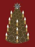 圣诞节金结构树 免版税图库摄影