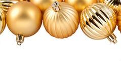 圣诞节金装饰品 库存照片