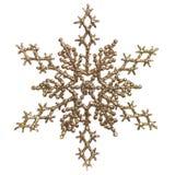 圣诞节金装饰品snowlfake 免版税库存照片