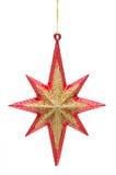 圣诞节金黄红色星形 库存图片
