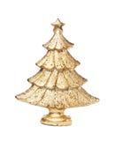 圣诞节金黄结构树 图库摄影