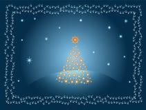 圣诞节金黄结构树 向量例证