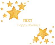 圣诞节金黄装饰品星形结构树 库存照片