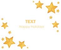 圣诞节金黄装饰品星形结构树 免版税图库摄影
