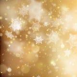 圣诞节金黄假日发光的背景 EPS 10向量 图库摄影