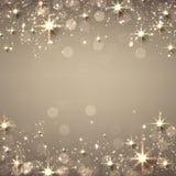 圣诞节金黄满天星斗的背景 皇族释放例证