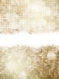 圣诞节金黄背景 10 eps 免版税库存照片
