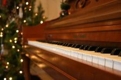 圣诞节钢琴 库存照片